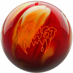 Bowlingball - Bowlingkugel - Columbia 300 - Beast cherry/gold/white