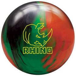 Bowlingball - Bowlingkugel - Brunswick - Rhino - black/green/orange