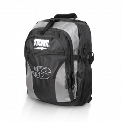 Bowlingzubehör - STORM - DELUXE BACK PACK - BLACK/SILVER